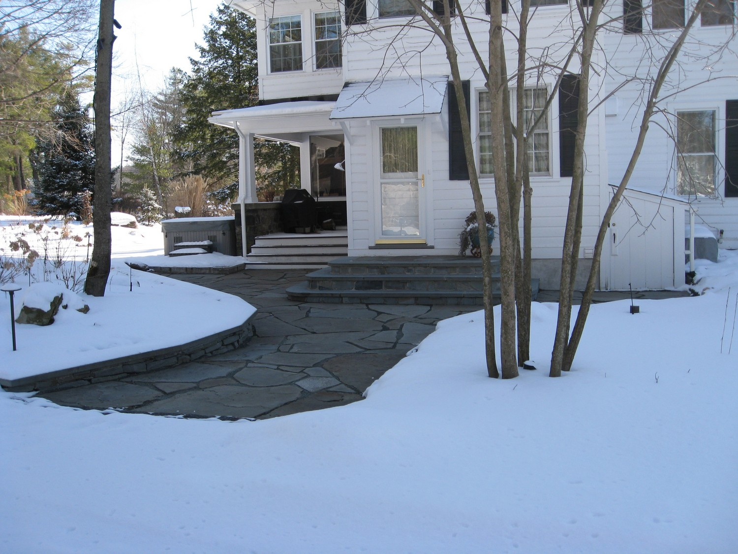 Bluestone patio and step design Averill Park, NY