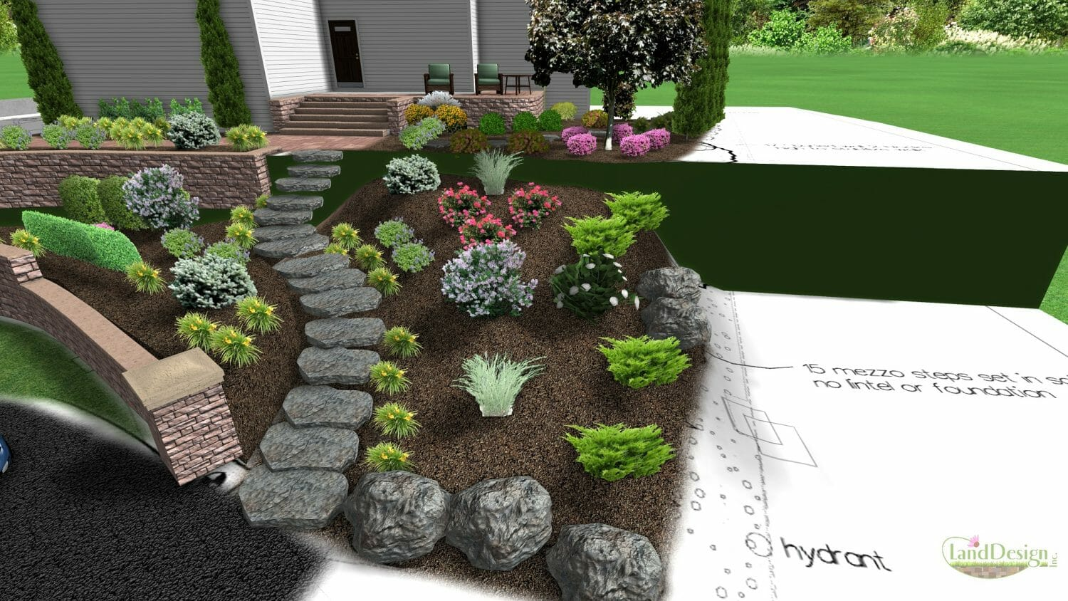 landscape planner design retaining walls landscaping on a slope ideas