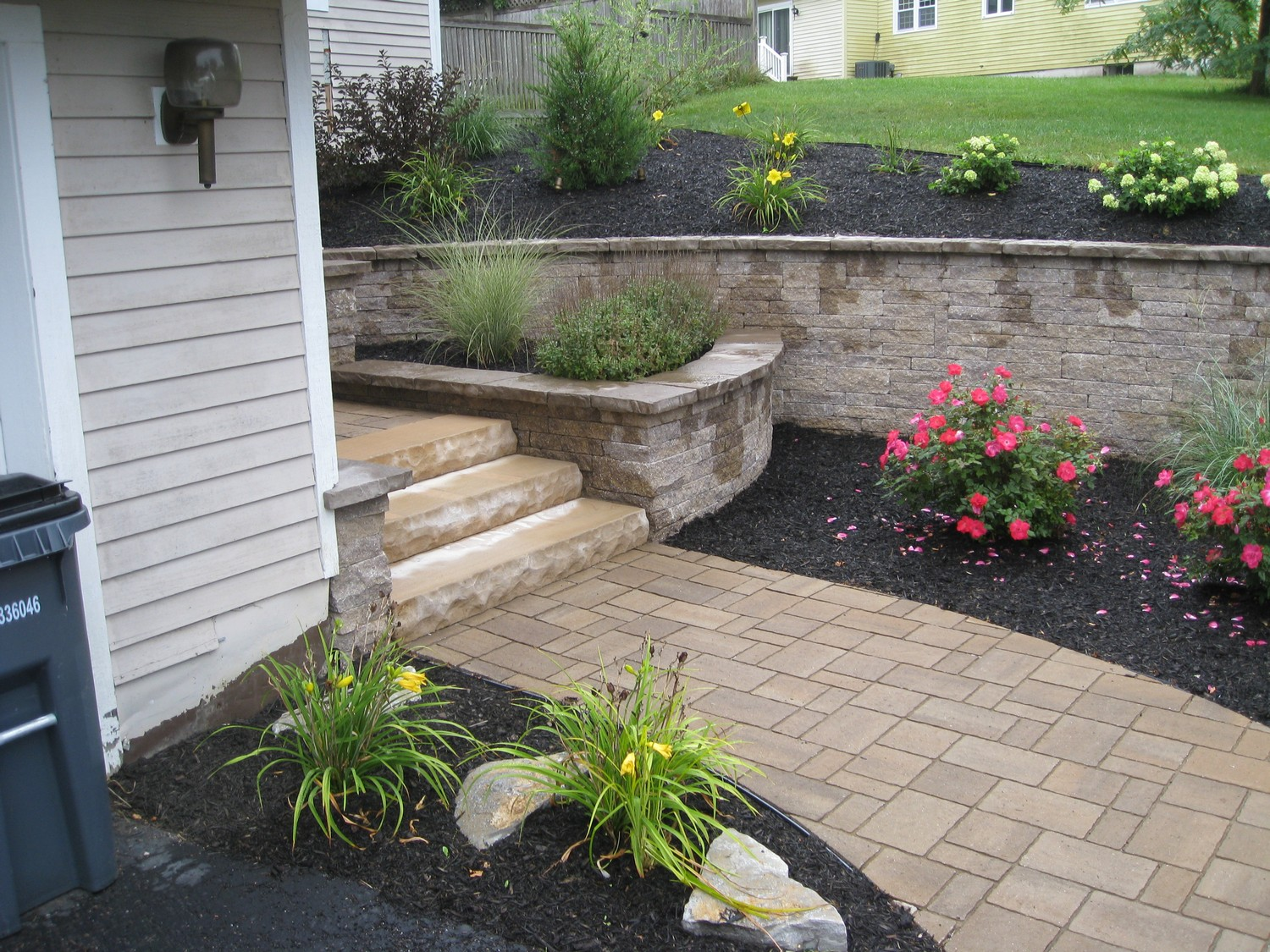 hardscape entry replacement design latham ny
