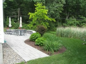 Back Yard Hardscape Design Loudonville Ny Landscaping