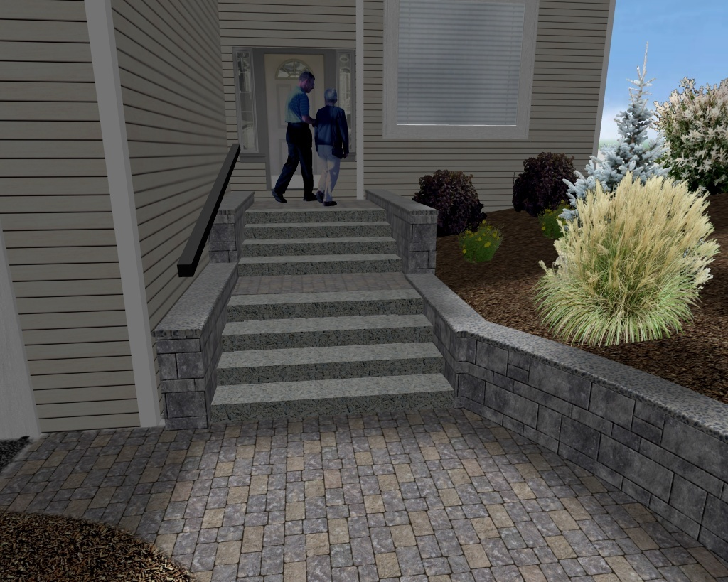 Latham NY Hardscape Design Plans