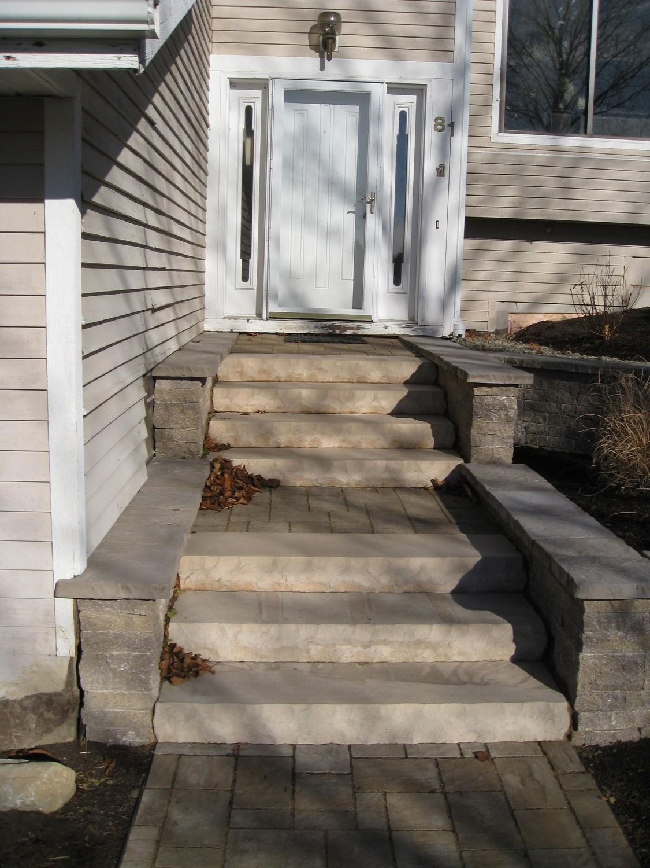 Latham NY hardscape designer front steps e1456513420215 - Landscape Design Portfolio Albany's Capital District