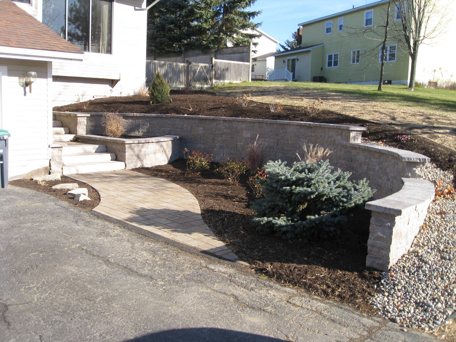 Hardscape entry replacement design Latham, NY