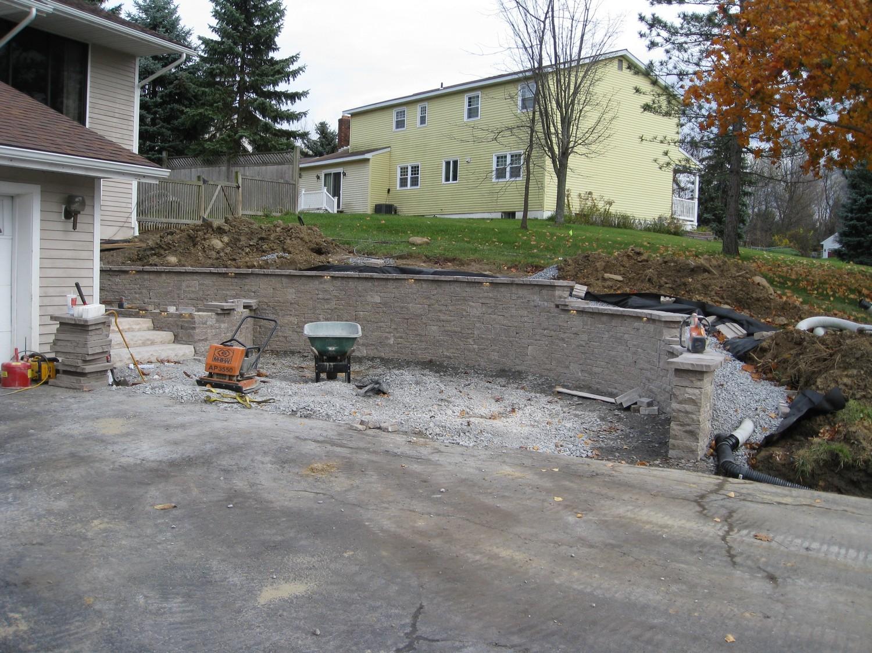 Latham NY Hardscape Retaining Wall