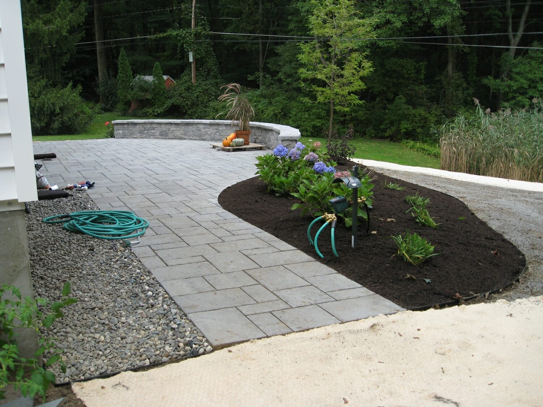 Back Yard Hardscape Design Loudonville Ny Landscape