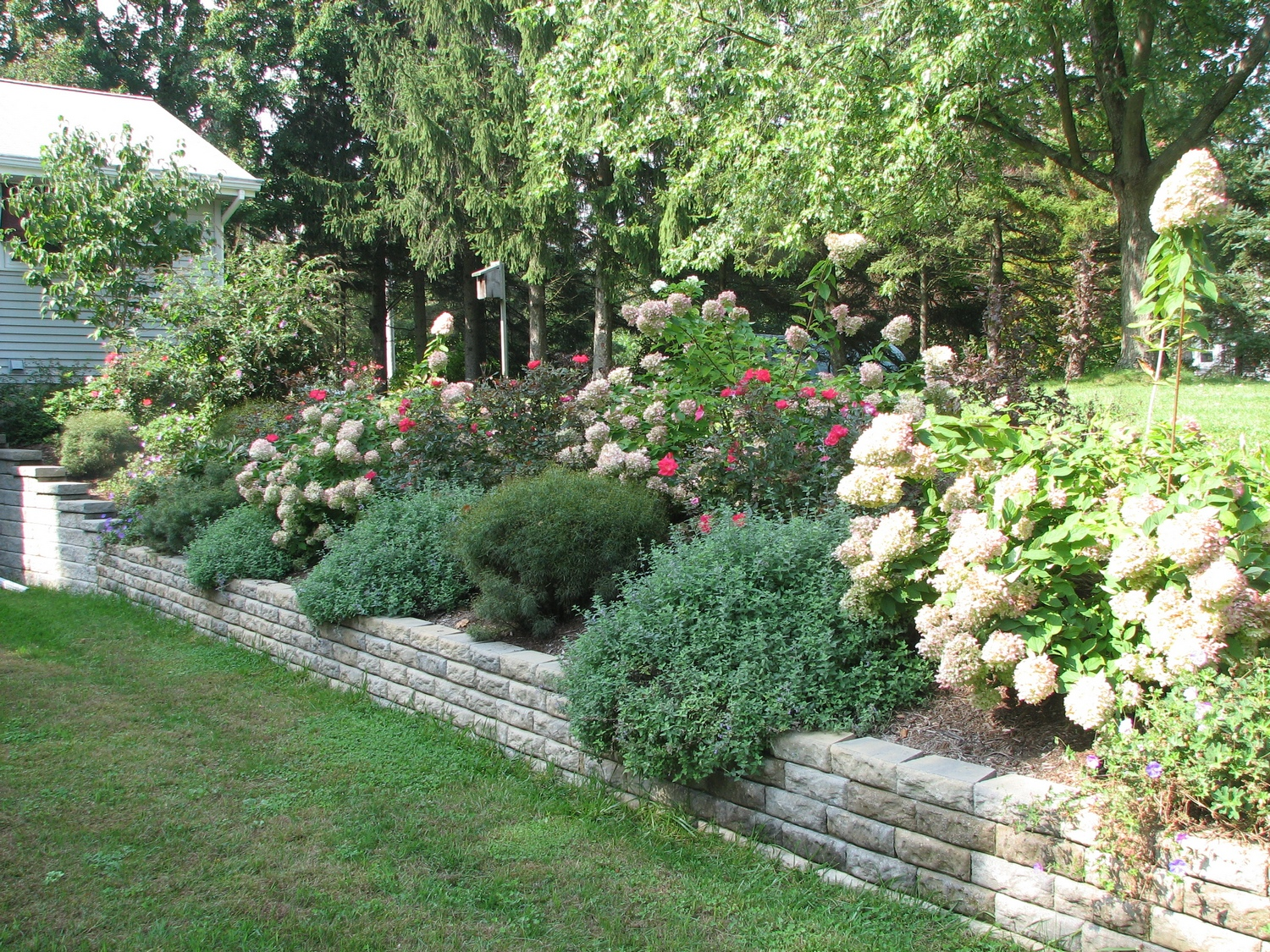 backyard retaining wall options backyard landscaping patio retaining